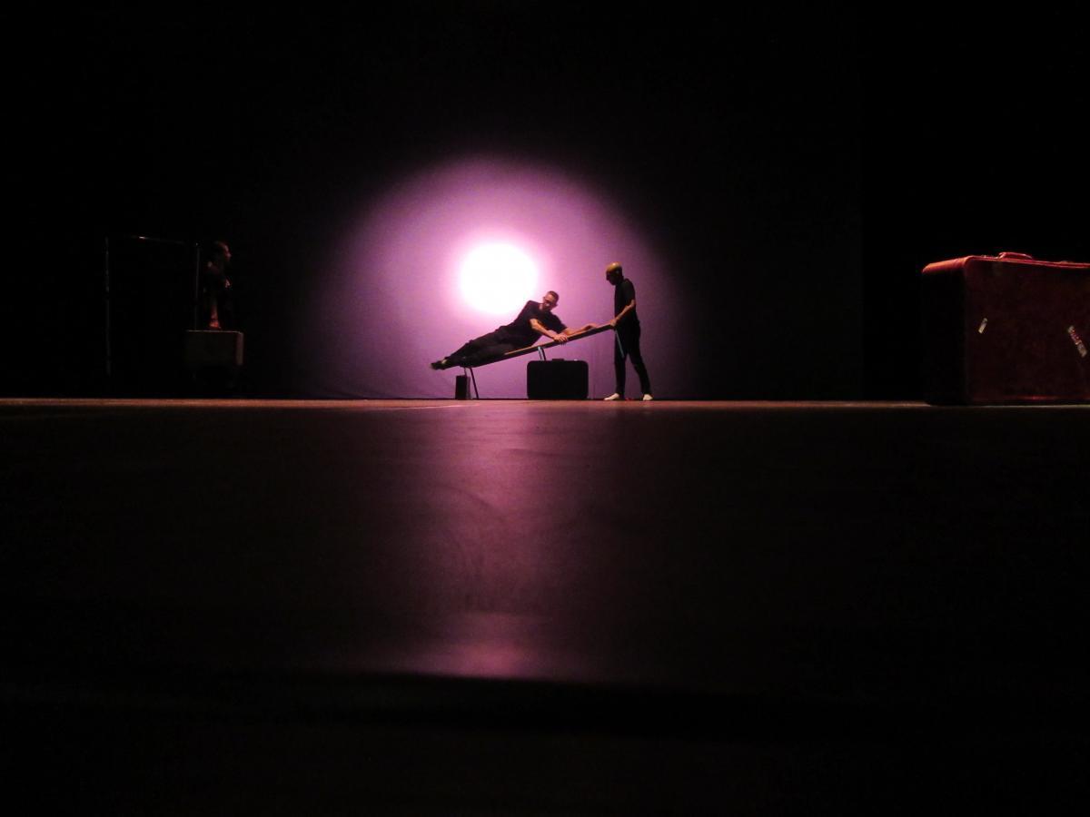 répétitions du spectacle Tracks par la Cie Zahrbat
